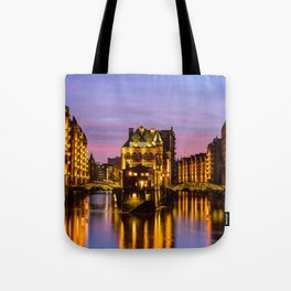 City of Warehouses - Speicherstadt in Hamburg, Germany Tote Bag