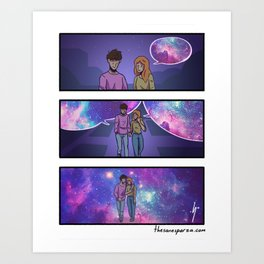 Tell me more about your world. Art Print