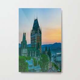 Quebec City Sunset Old Town Print Metal Print