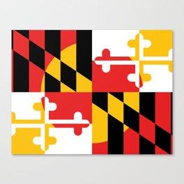 Maryland State Flag Art Print Canvas Print