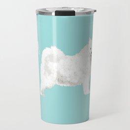 samoyed funny farting dog breed pure breed pet gifts Travel Mug