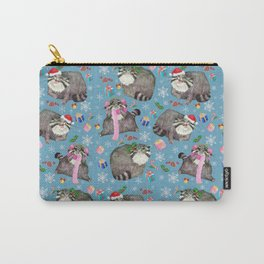 Christmas Manul pattern Carry-All Pouch