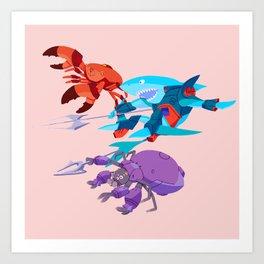 Battle Beasts - trio 9 Art Print