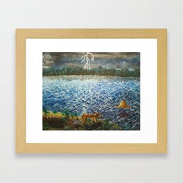 A Little Lost Framed Art Print