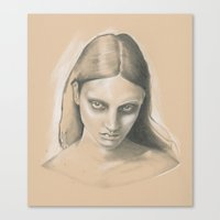 queen Canvas Prints featuring Queen by Sherie Myers