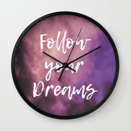 Follow Your Dreams Sky Wall Clock