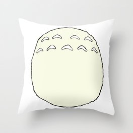 Totoro's Belly Throw Pillow