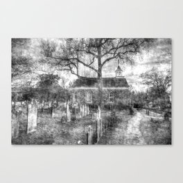 Old Dutch Church Of Sleepy Hollow Vintage Canvas Print