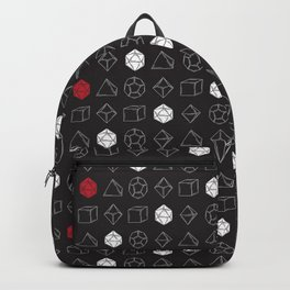 Black Dungeons and Dragons Dice Set Pattern Backpack