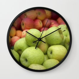 Fresh Apples Wall Clock