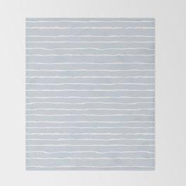 Grey and White Winter Stripes Throw Blanket