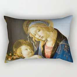 The Virgin and Child by Sandro Botticelli Rectangular Pillow