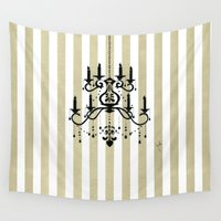 chandelier Wall Tapestries featuring Chandelier shade  by Huda Mulla