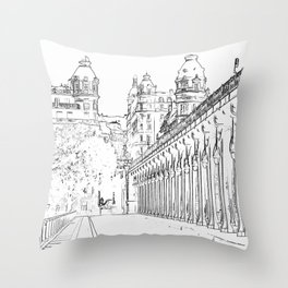 Pont de Bir-Hakeim - Paris, France Throw Pillow