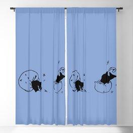 Childish - Wisteria blue Blackout Curtain