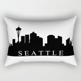 Seattle skyline Rectangular Pillow