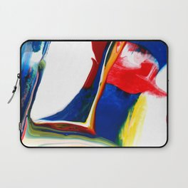 Abstract Acrylic Paint Pattern Texture #4 - Red, Blue, Yellow Laptop Sleeve