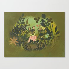 Mouse in the Grass Canvas Print