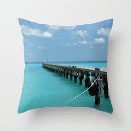 Caribean Sea Throw Pillow