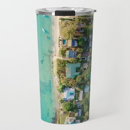 Aerial Beach View Travel Mug