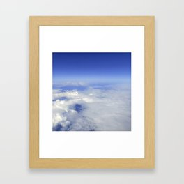 Sky Above the Clouds,Cloudscape background, Blue Sky and Fluffy Clouds Framed Art Print