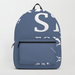 Eat Sleep SKI repeat Backpack