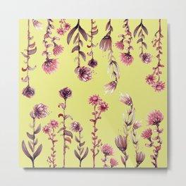 pink water color Garden Metal Print