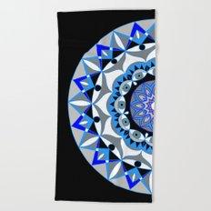 My Peace Mandhala   Secret Geometry   Energy Symbols Beach Towel