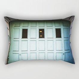 The Aqua Gate Rectangular Pillow