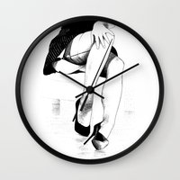 apollonia Wall Clocks featuring asc 221 - La fausse candeur by From Apollonia with Love