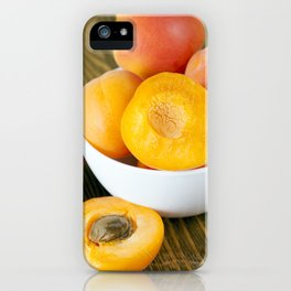 fresh apricots iPhone Case