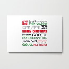 merry christmas in different languages II Metal Print