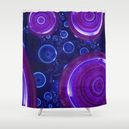 Atlantian Abyss - Sapphire Jewel of the Ocean Shower Curtain