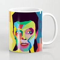 bowie Mugs featuring bowie by mark ashkenazi
