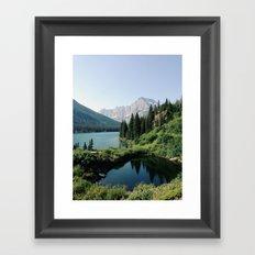 Lake Josephine, Glacier National Park Framed Art Print