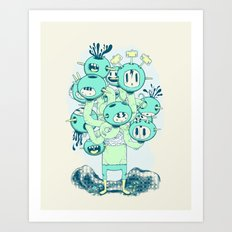 Many Heads are Better than None Art Print