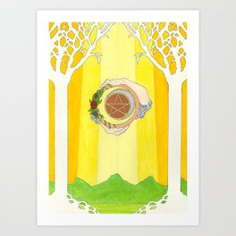 The Raven's Illumination Tarot: Ace Of Pentacles Art Print