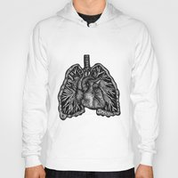lungs Hoodies featuring LUNGS by Fanny Andy