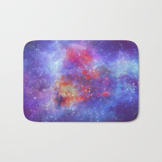Heart on Universe Bath Mat