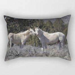 Wild Horses with Playful Spirits No 1 Rectangular Pillow