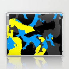 Black Blue yellow and Gray Abstract Laptop & iPad Skin