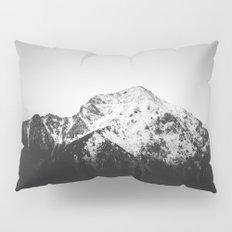 Black and white snowy mountain Pillow Sham