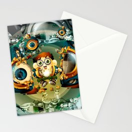 Discovery of the repairman Stationery Cards