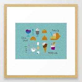 Sicilian diet - Summer edition Framed Art Print