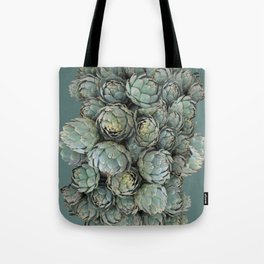 Archie talks (Artichokes) in teal Tote Bag