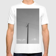 One for four MEDIUM Mens Fitted Tee White