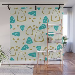 Mid-Century Abstract Wall Mural