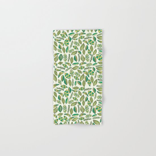 Tropical Jungle Leaves Hand & Bath Towel