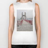bridge Biker Tanks featuring Bridge by Mr and Mrs Quirynen