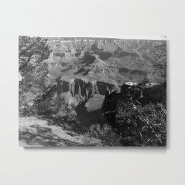Black and White Grand Canyon Metal Print